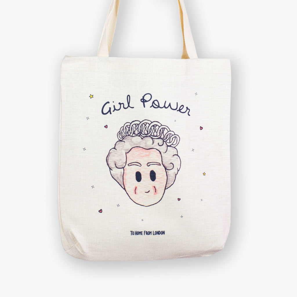 Queen / Girl Power Tote Bag - To Home From London