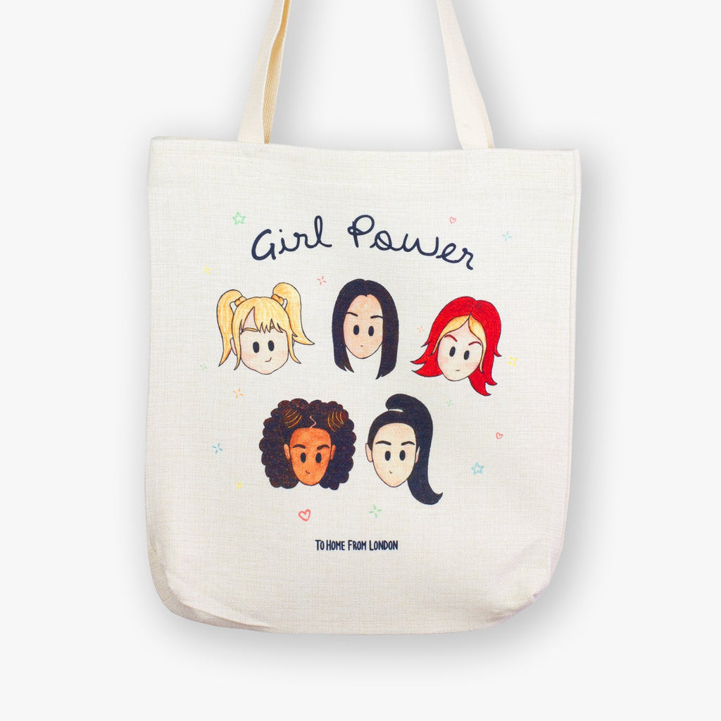 Spice Girls / Girl Power Tote Bag - To Home From London