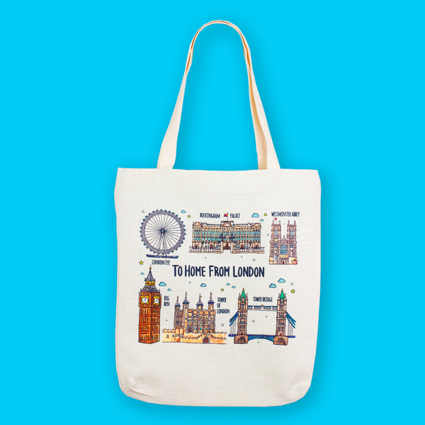 London Landmarks Tote Bag - To Home From London