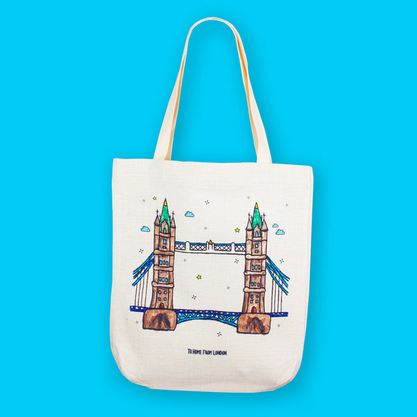 Tower Bridge Tote Bag - To Home From London