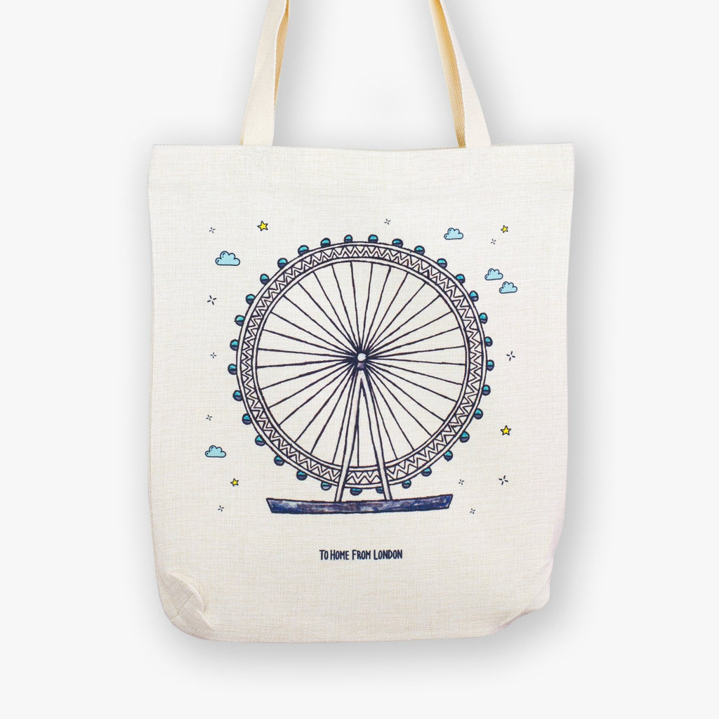 London Eye Tote Bag - To Home From London