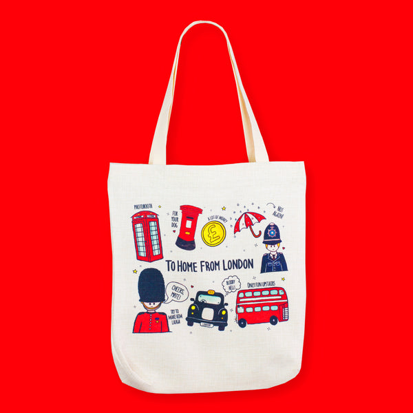 British Icons Tote Bag - To Home From London