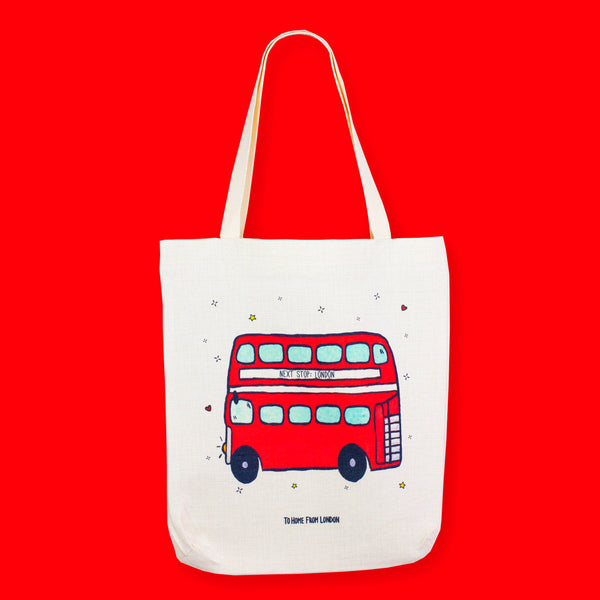 Double Decker Tote Bag - To Home From London