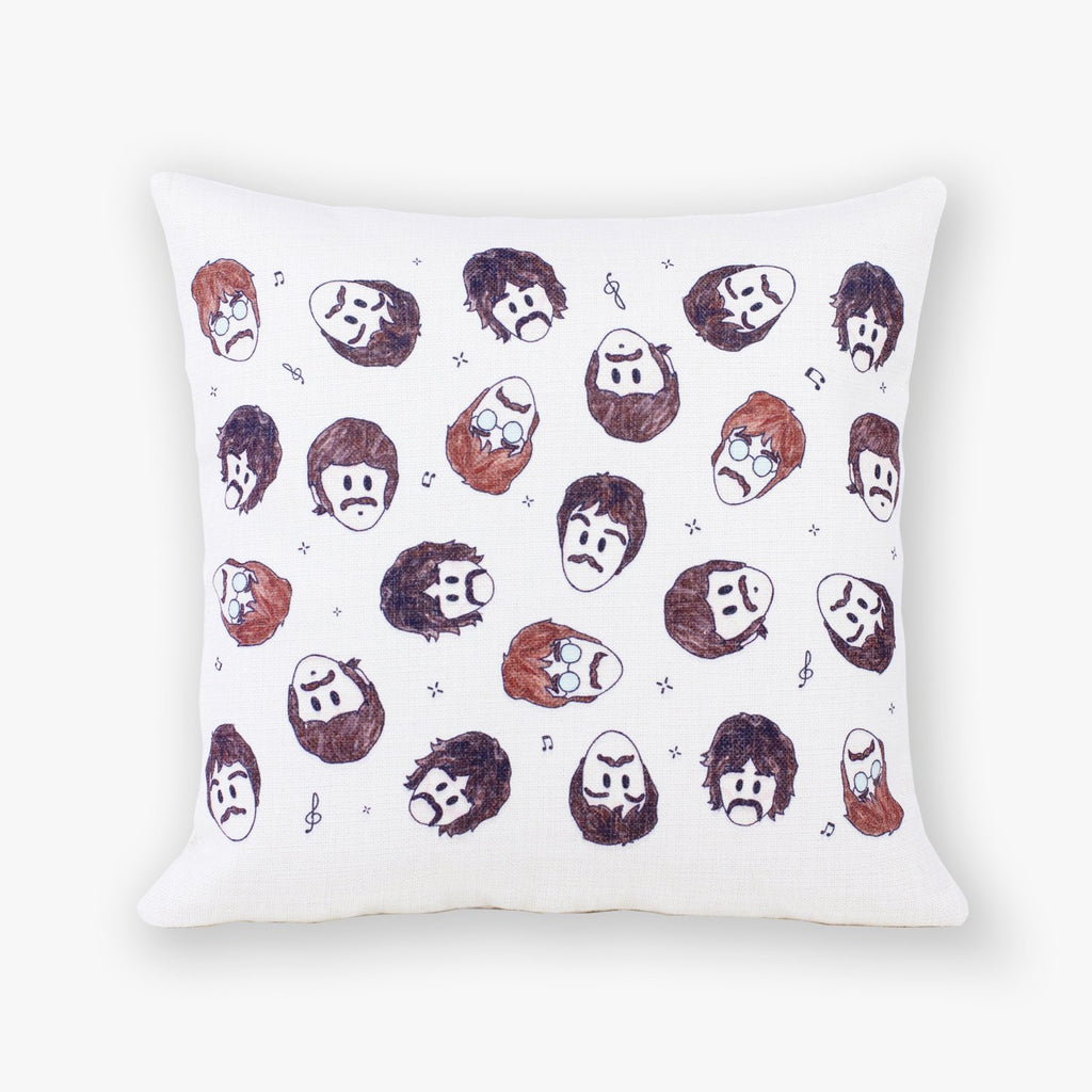 Beatles Pattern Cushion Cover - To Home From London
