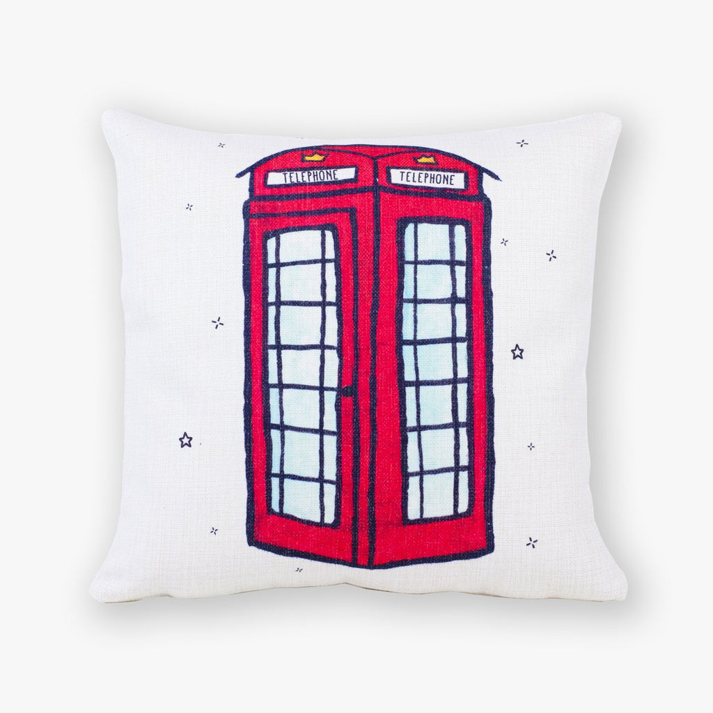 Telephone Cushion Cover - To Home From London