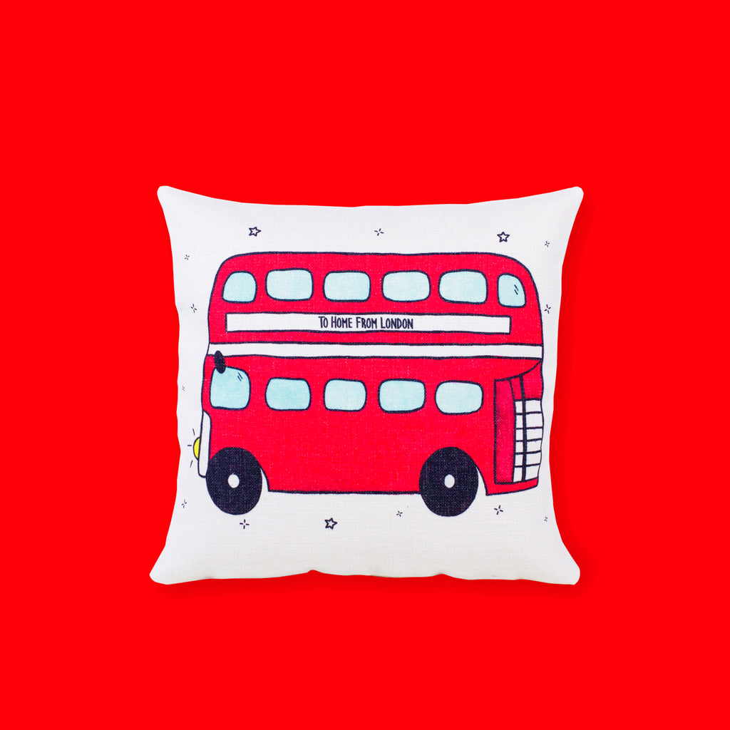 Double Decker Cushion Cover - To Home From London