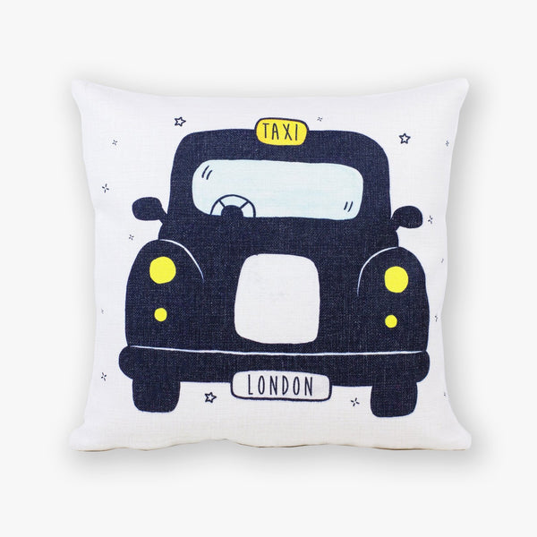 Black Cab Cushion Cover - To Home From London
