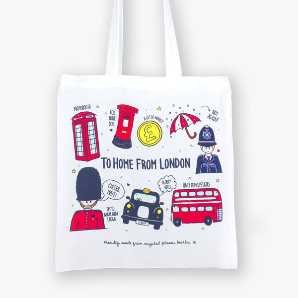 British Icons Eco Bag - To Home From London