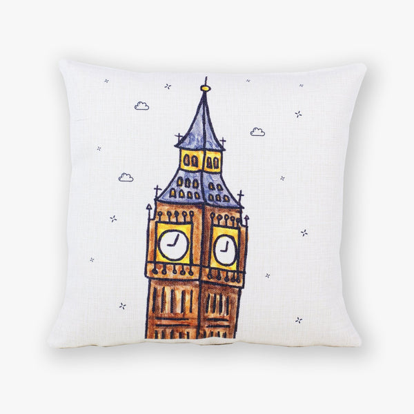 Big Ben Cushion Cover - To Home From London
