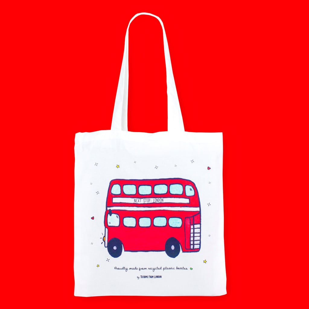 Double Decker Eco Bag - To Home From London