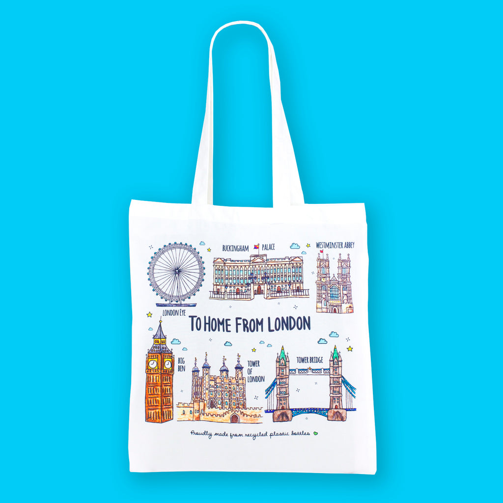 London Landmarks Eco Bag - To Home From London