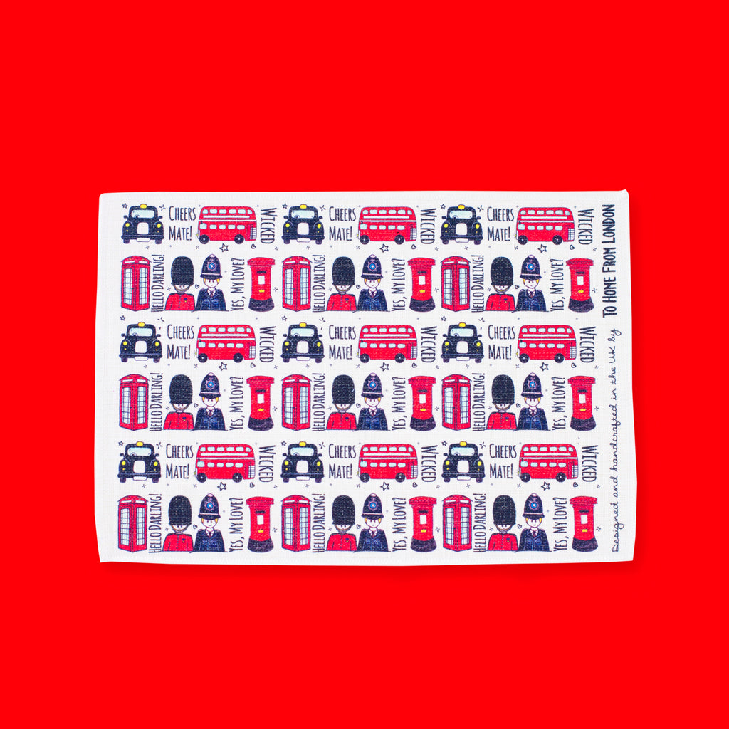 British Icons Placemat - To Home From London