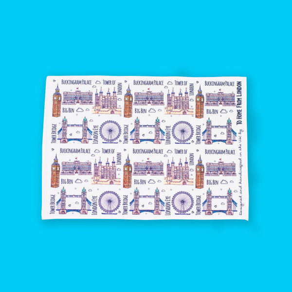 London Landmarks Placemat - To Home From London