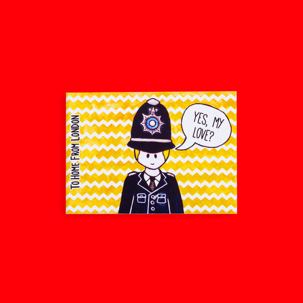 Policeman Postcard - To Home From London