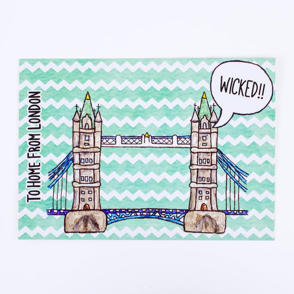 Tower Bridge Postcard - To Home From London