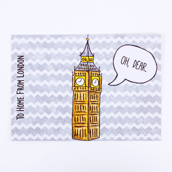 Big Ben Postcard - To Home From London