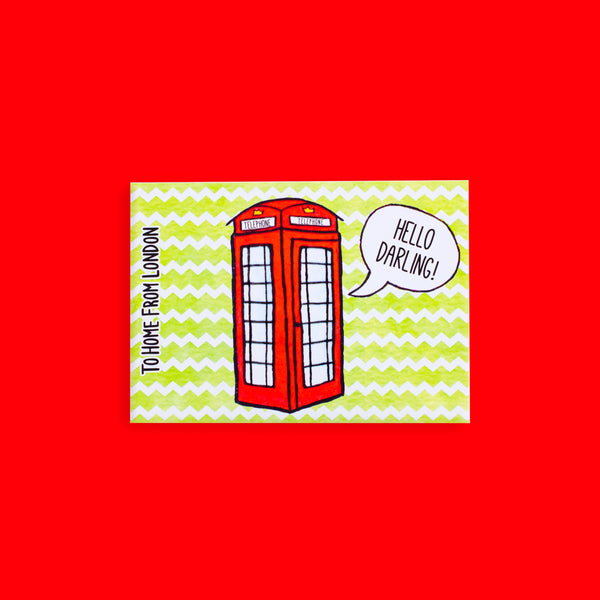 Telephone Postcard - To Home From London