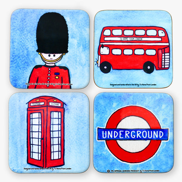 British Icons Coaster Set #1 - To Home From London