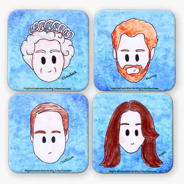 Royal Family Coaster Set - To Home From London