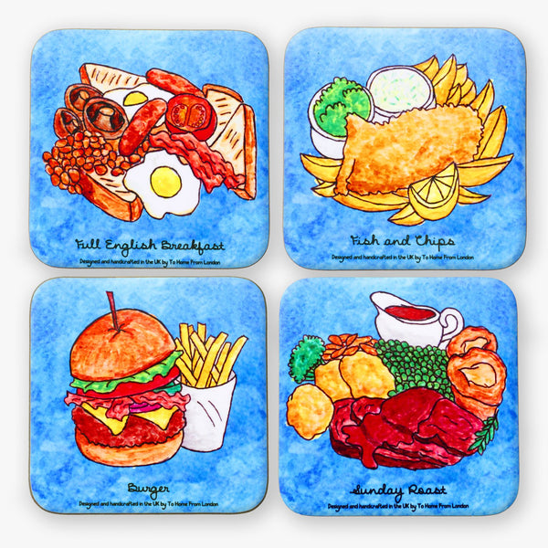 British Foods Coaster Set - To Home From London