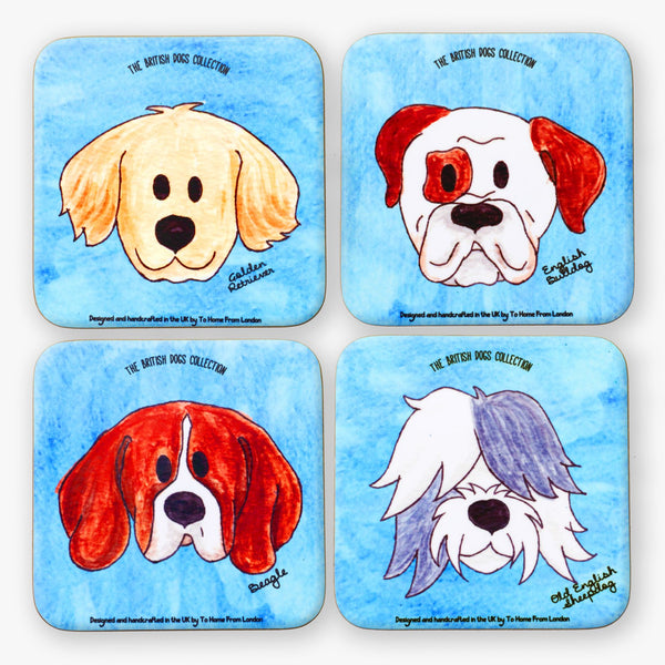 British Dogs Coaster Set - To Home From London