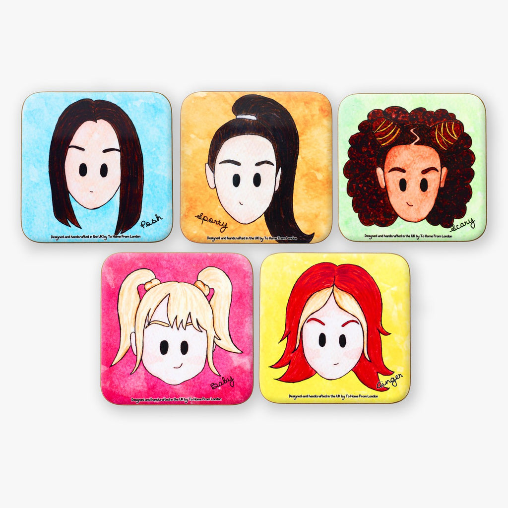 Spice Girls Coaster Set - To Home From London