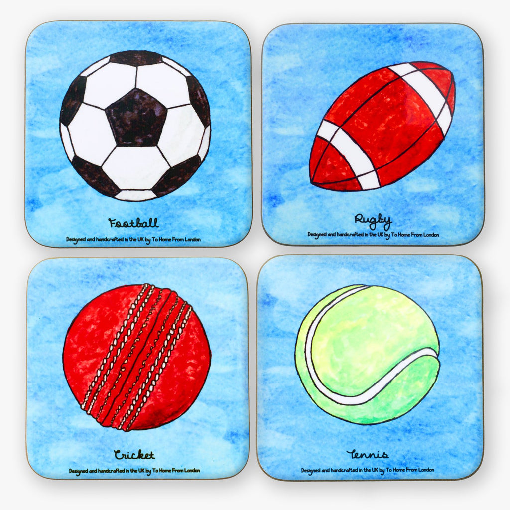 British Sports Coaster Set - To Home From London
