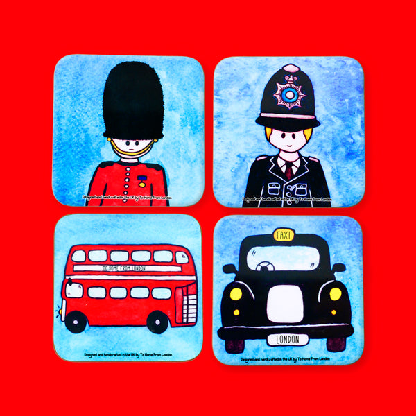 British Icons Coaster Set #2 - To Home From London