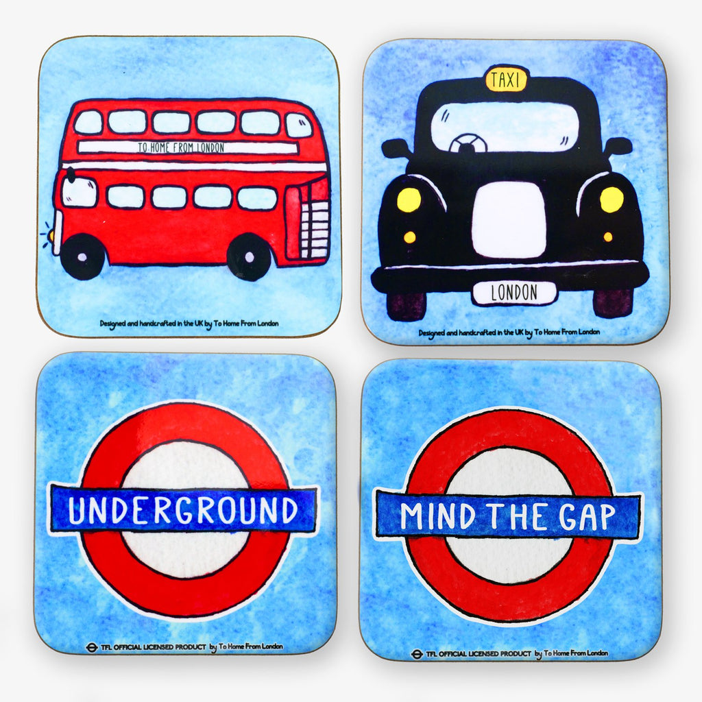 British Icons Coaster Set #3 - To Home From London