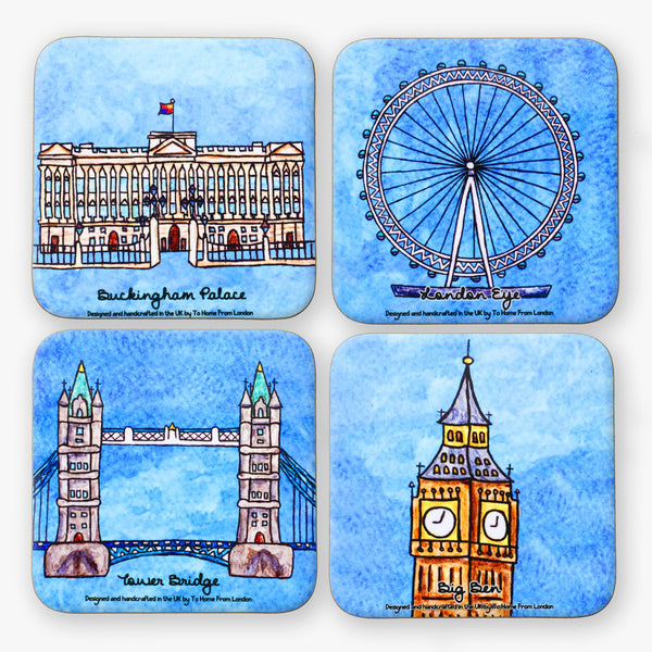London Landmarks Coaster Set #1 - To Home From London