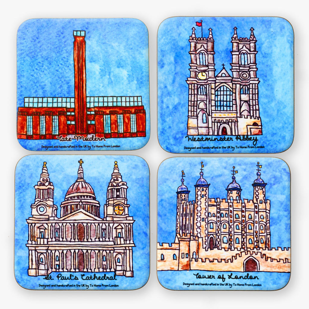 London Landmarks Coaster Set #2 - To Home From London