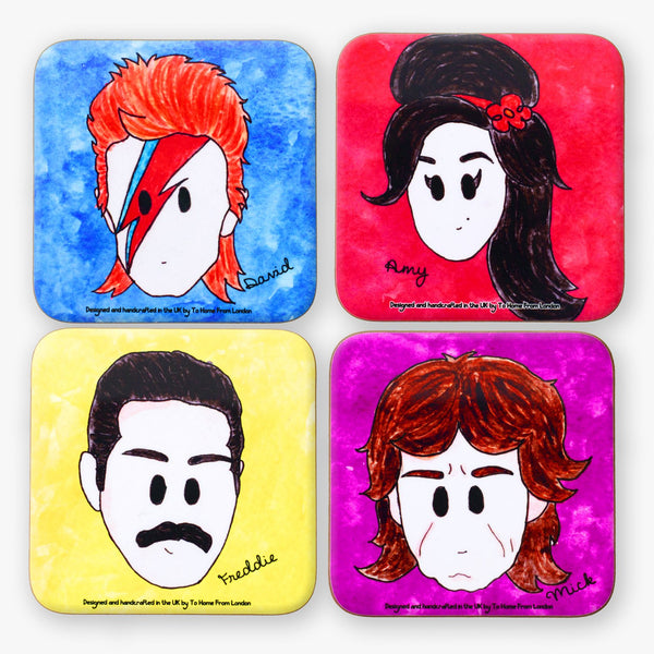 British Rockers Coaster Set - To Home From London