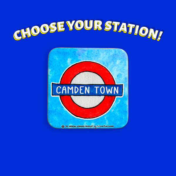 Underground Stations Coaster | Choose yours - To Home From London