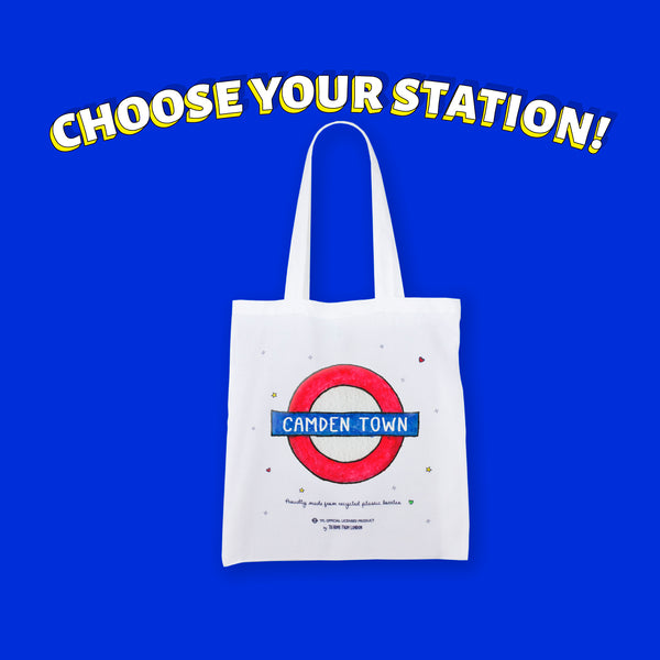 Underground Stations Eco Bag | Choose yours - To Home From London