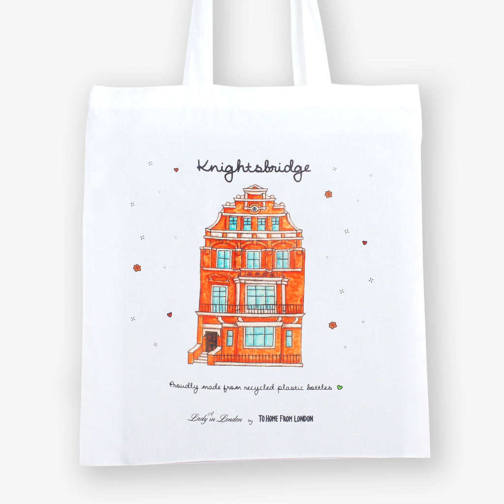 Knightsbridge Eco Bag by A Lady in London - To Home From London