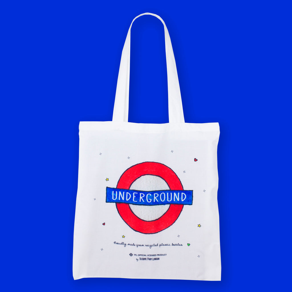 Underground Roundel Eco Bag - To Home From London
