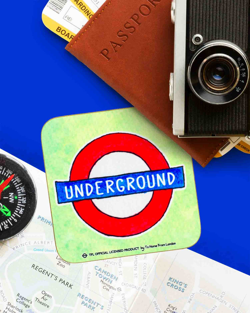 Underground Roundel Coaster - To Home From London