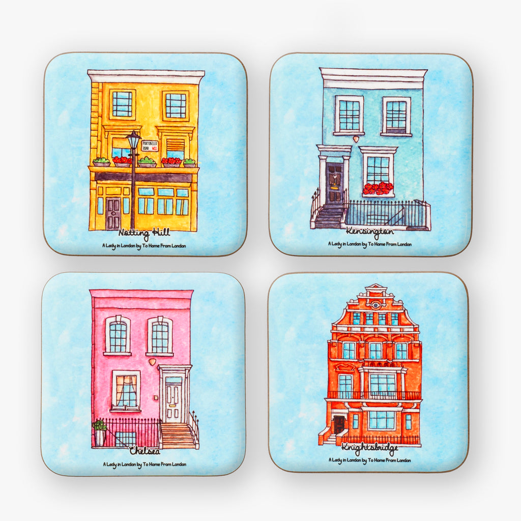A Lady in London Coaster Set - To Home From London