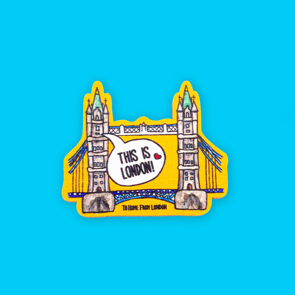 Tower Bridge Eco Pin - To Home From London