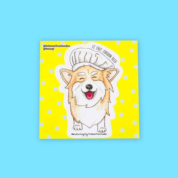 Le Chef Corgi Sticker - To Home From London