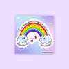 Rainbow Sticker - To Home From London