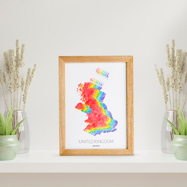 UK Map Print - To Home From London