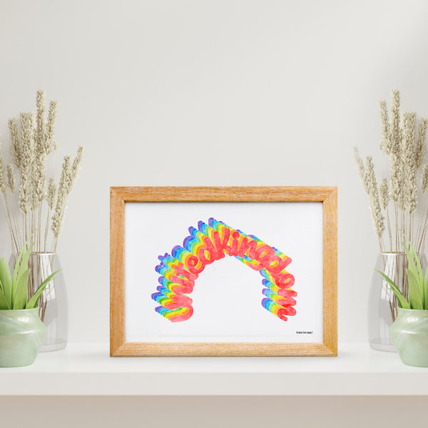 UK Rainbow Print - To Home From London