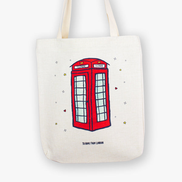 Telephone Tote Bag - To Home From London