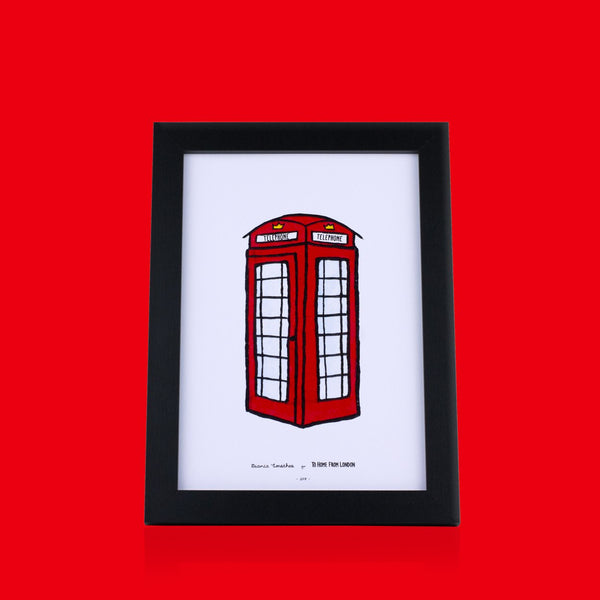 Telephone Cabin Print - To Home From London