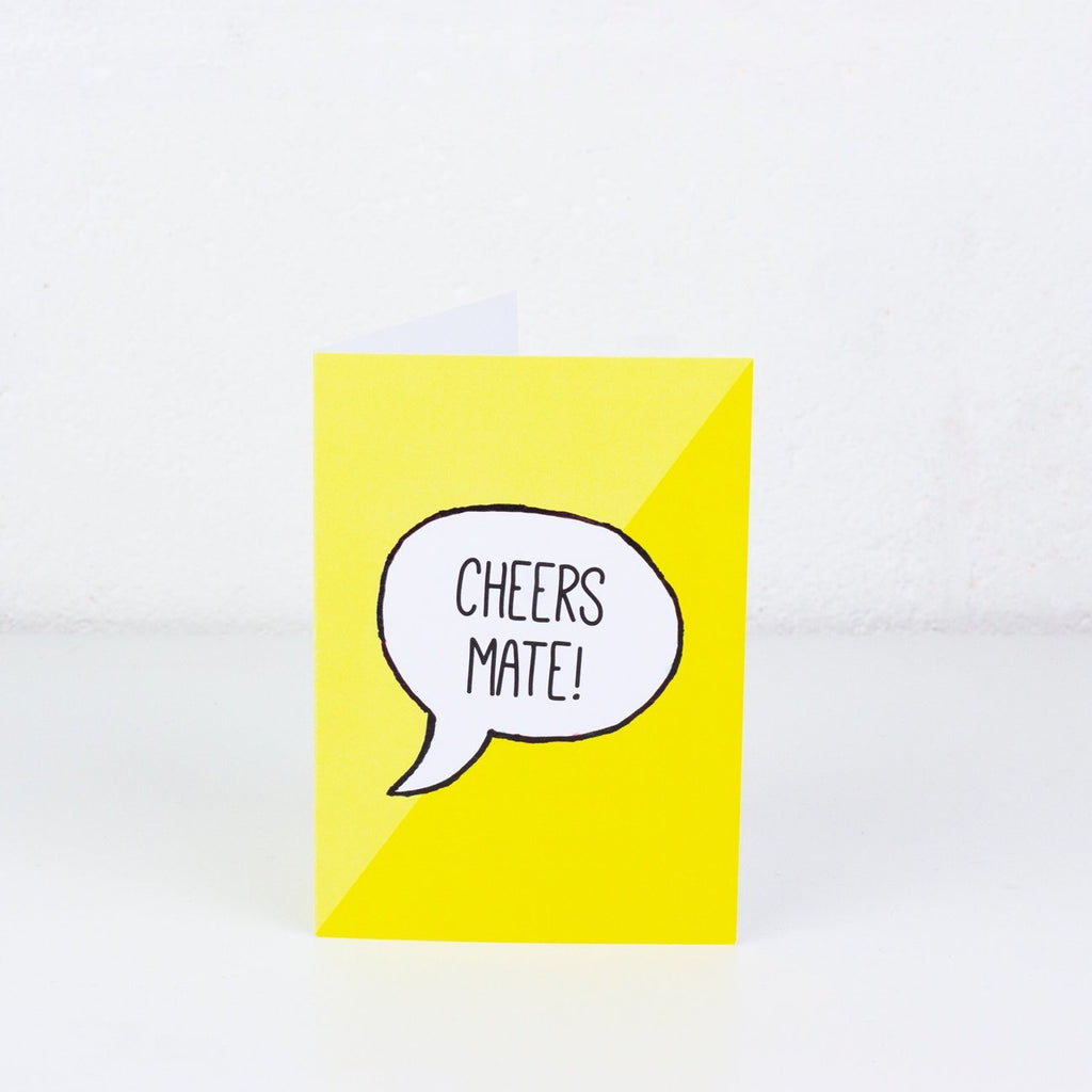 Cheers Mate Greeting Card - To Home From London
