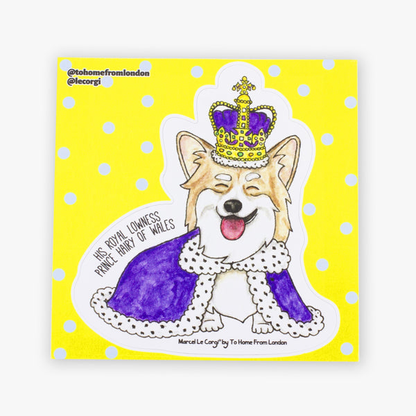 Le Royal Corgi Sticker - To Home From London