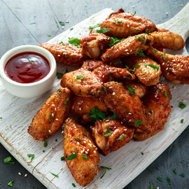 6 Barbecue Chicken Wings