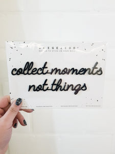 Wallsticker - Collect moments black