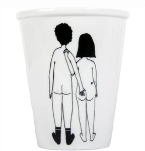 Cup - naked couple back